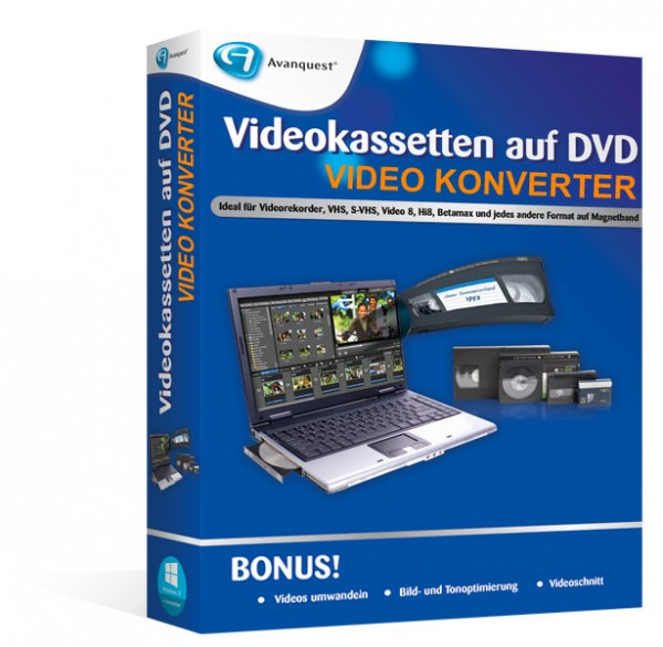 Videokassetten auf DVD – Video Konverter Software