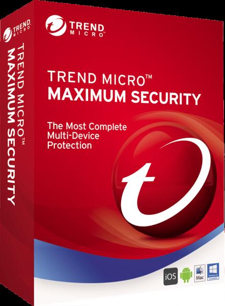 Trend Micro Maximum Security 2020 Multi Device, MAC Windows, Android, IOS