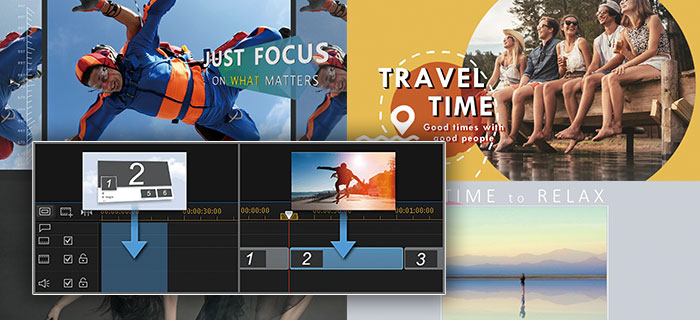 Use Express Projects to create professional looking videos by simply drag-and-drop.