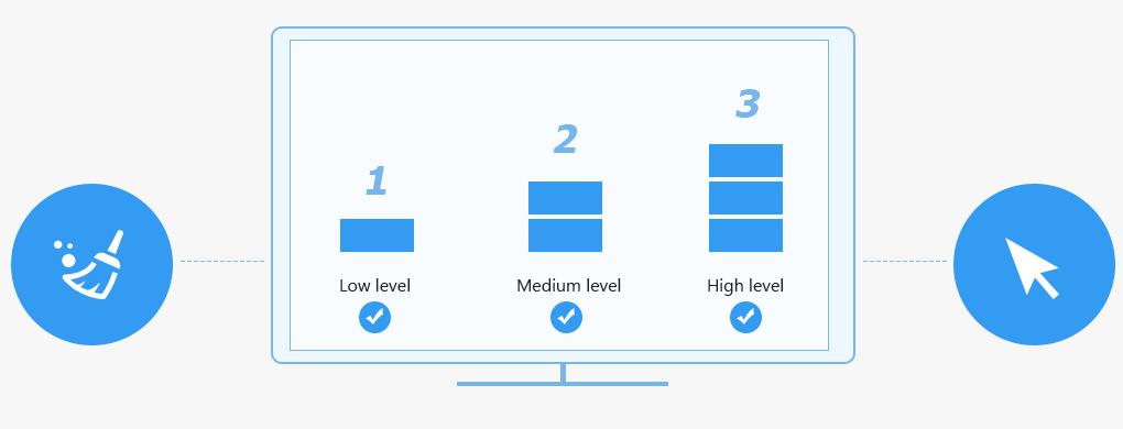 Löschen-Level wählen