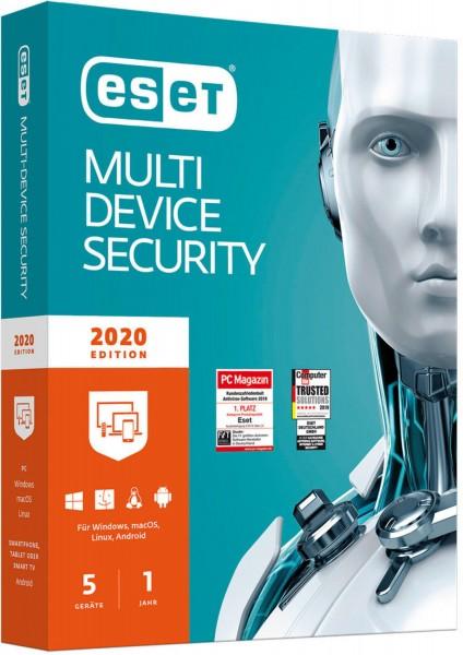 ESET Multi-Device Security 2020, 5 Geräte, 1 Jahr