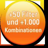 Sticker +50 Filter & 1000 Kombis