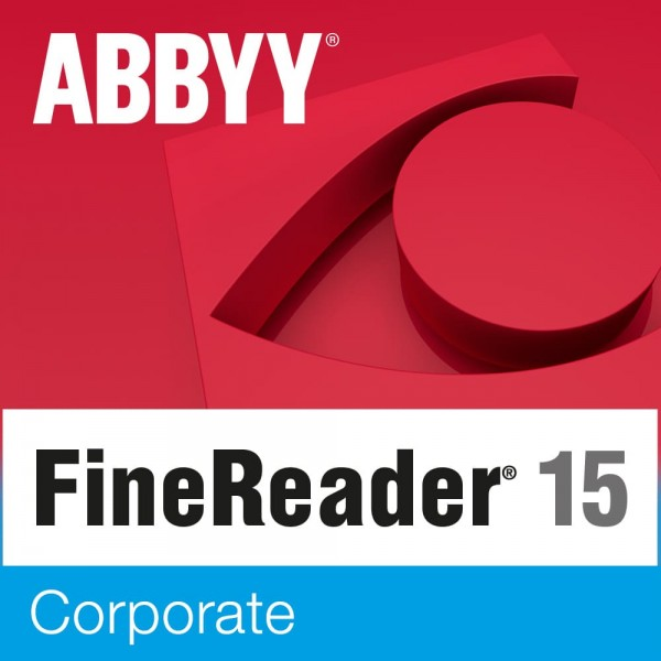 ABBYY FineReader 15 Corporate, 1 User, WIN, Vollversion, Download