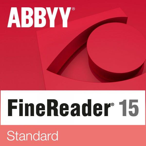 ABBYY FineReader 15 Standard, 1 User, WIN, Vollversion, Download