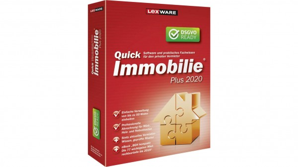 Lexware QuickImmobilie Plus 2020, 50 Wohneinheiten, 365 Tage Version