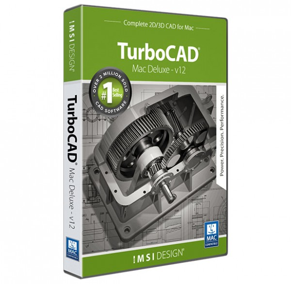 TurboCAD Mac Deluxe 2D/3D V12, English