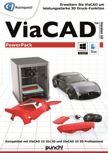 ViaCAD PowerPack 10 3D Druck AddOn