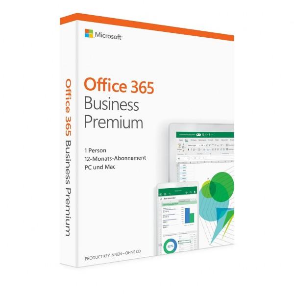 Microsoft Office 365 Business Premium, 5 Geräte, 1 Jahr, Download