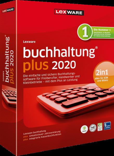 Lexware Buchhaltung Plus 2020, 365 Tage Laufzeit [Download]