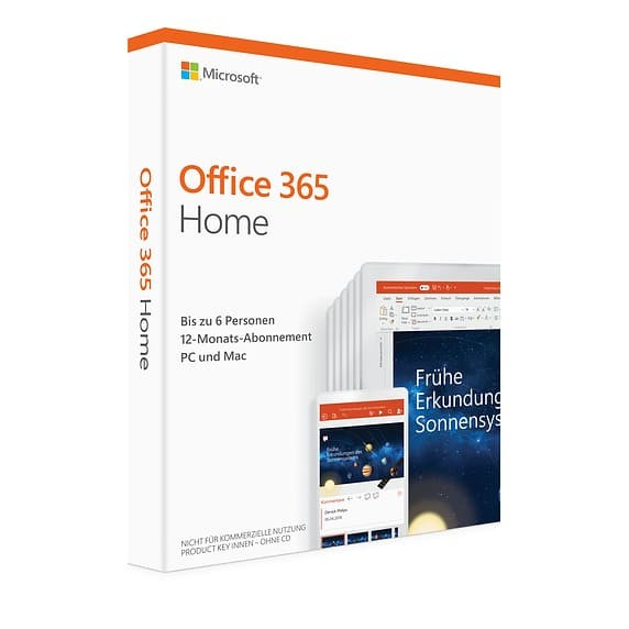Microsoft Office 365 Home, 6 Nutzer, Download