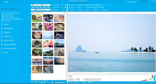 Screenshot photo commander interface