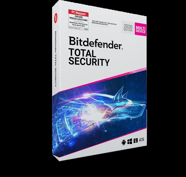 Bitdefender Total Security 2020 Vollversion, Multi Device