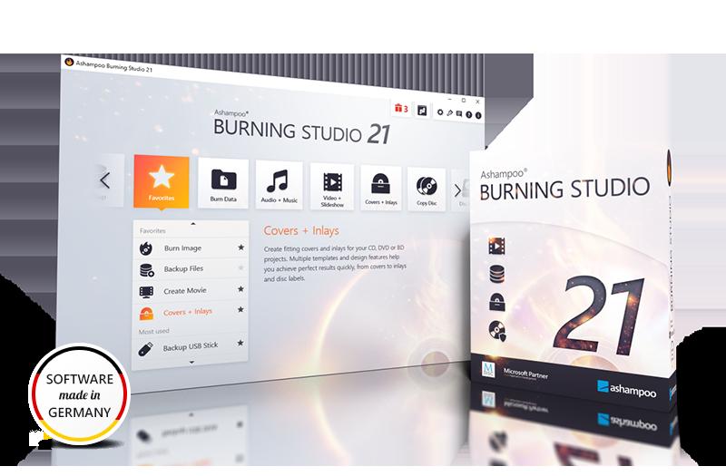 Burning Studio 21 Box & Screenshot