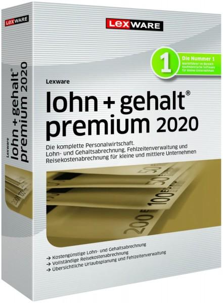 Lexware Lohn + Gehalt Premium 2020, 365 Tage Laufzeit, Download