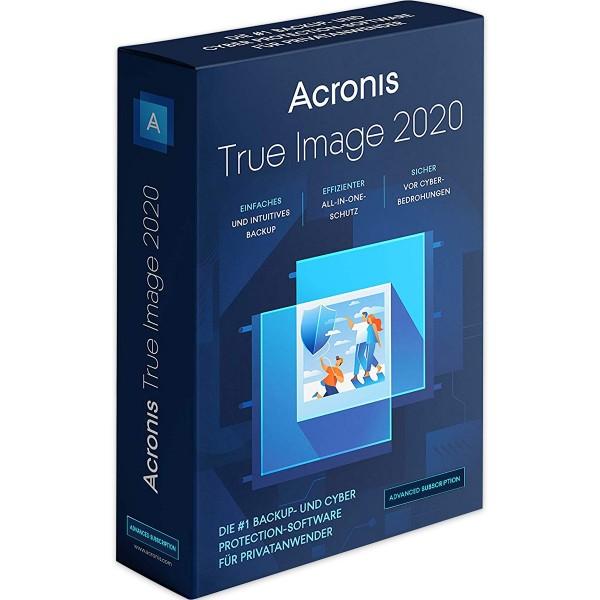 Acronis True Image 2020 Advanced, 1 Jahresabonnement, 250 GB Cloud