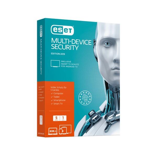 ESET Multi-Device Security 2019, 5 Geräte, 1 Jahr