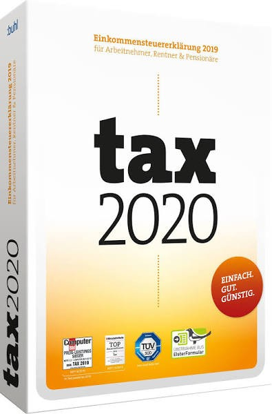 tax 2020, für die Steuererklärung 2019