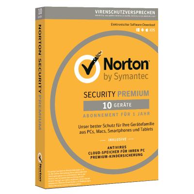 Symantec Norton Security Premium 3.0, 10 Geräte, Vollversion