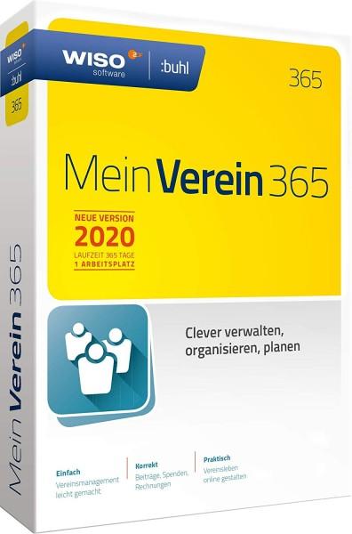 WISO Mein Verein 365 (2020), 1 Jahreslizenz, Vollversion, Box